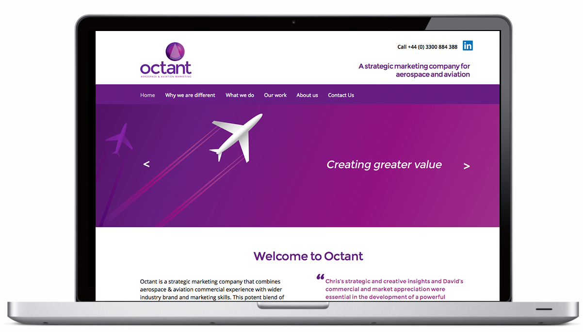 New Website for Octant Marketing Launch